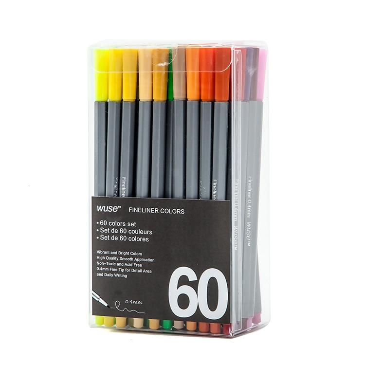 €2530000 Bespaart 100 Colors Gel Pen Set 0.4mm Soluble In Water Ultra Fine Liner Sketch Drawing