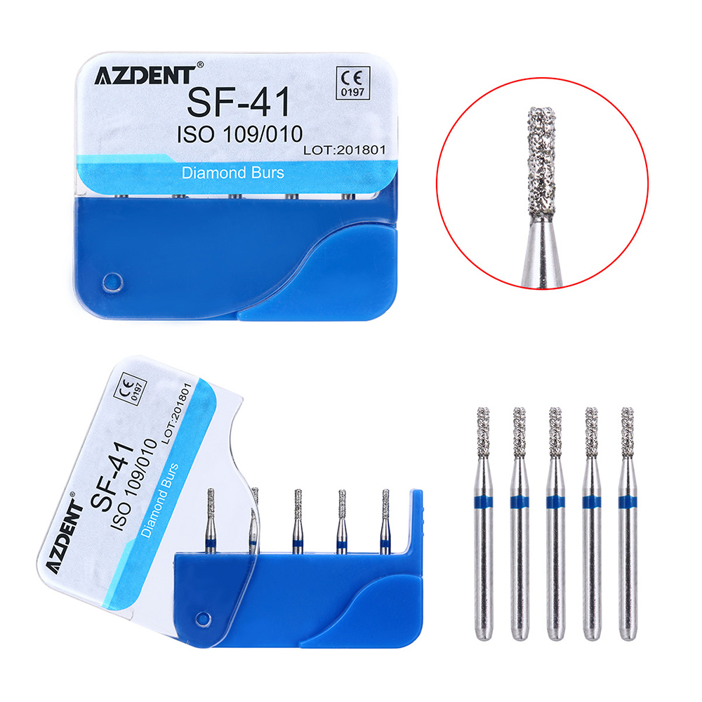 100pcs/20Box Dental Diamond Burs Drill Dental Burs Dia-burs For High Speed Handpiecess Medium FG 1.6M Dentist