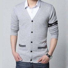 New Fashion Men Sweater Knitwear Spring Autunn Thin V-Neck C