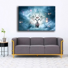 Abstract Fantasy Painting Modern Home Decorative Canvas Picture 1 Piece Stars Flower Shadow Deer Warrior Poster Print Type