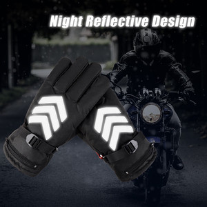 Image 2 - Snowmobile Ski Heated Gloves Snowboarding Thermal Gloves Snow Winter Sport Motorcycle Men Women Mittens Heating Battery Gloves