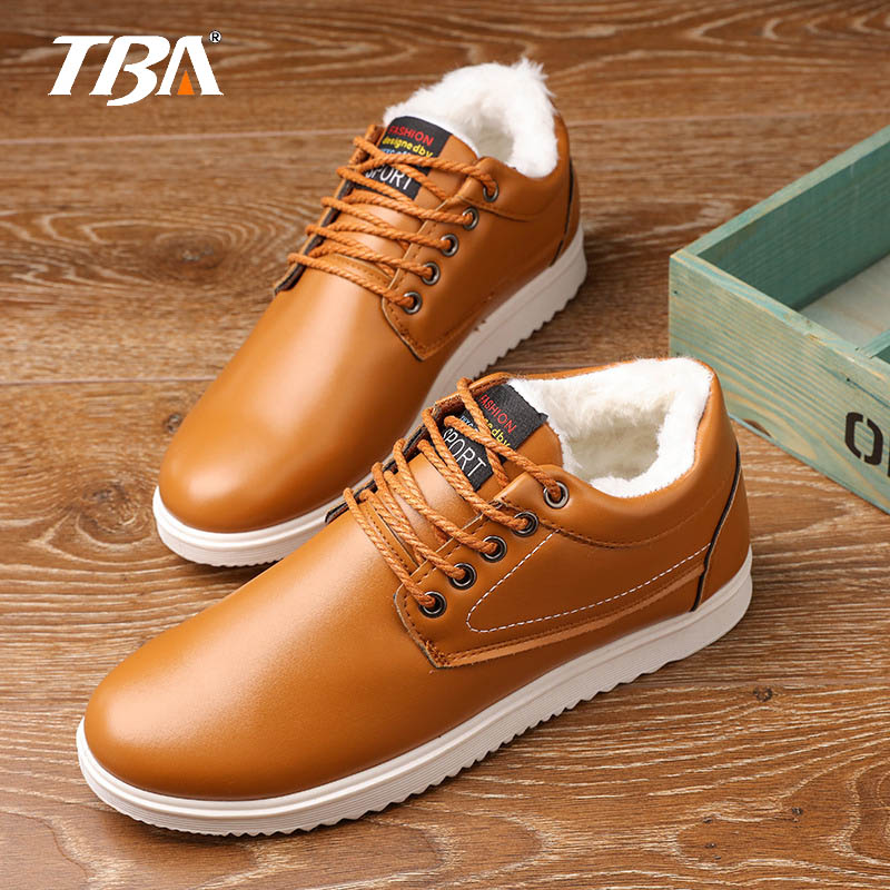 TBA New Arrival Fashion Men Winter Keep Warm Plush Ankle Snow Work shoes Outdoor Men Casual Shoes Man Zapatillas new fashion warm fur leather men snow shoes flat heels plush ankle winter casual shoes platform outdoor men cotton shoes