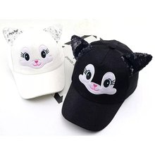 Baby hats cute Cartoon child Korean cat baseball caps Spring new summer boy girl sun Hats beanies kids photography props