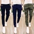 Plus Size Men Pants Fit Cotton Jogger Pants Mid Rise Leisure Men's Trousers Mens Pants Harem Pants Mens Trousers Slim Fit