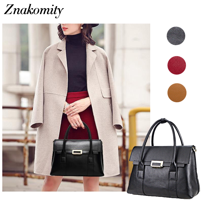 Znakomity China luxury leather handbags women s genuine leather tote bags for women Shoulder bag big