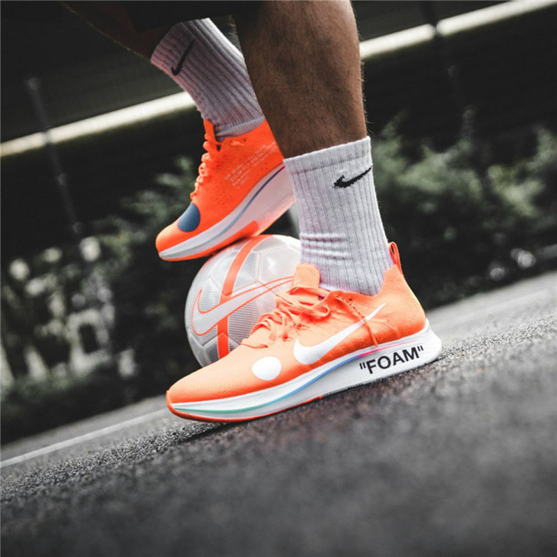 d713b431b 2018 Original Nike Zoom Fly Mercurial Flyknit X Off White Men s Running  Shoes Outdoor Jogging Breathable gym Shoes AO2115 800-in Running Shoes from  Sports ...