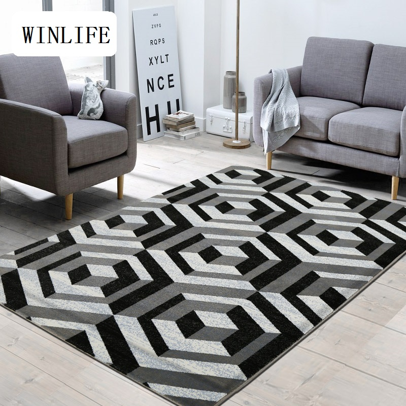 Winlife north european style carpets simple home area rugs for Styles of carpet for home