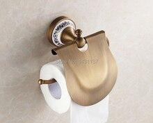 Высокое качество настенное крепление бумаги держатель, Латунь материал античная бронзовая отделка, Аксессуары для ванной комнаты