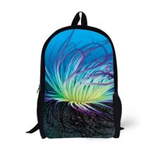 Ocean Coral Printing Backpack Children School Bags For Teenager Boys Girls 17 Inch Backpacks Laptop Backpack Mochila Bag star universe printing backpack bag children school bags for teenager boys girls backpacks laptop backpack