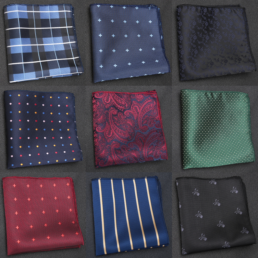 Men Handkerchief Hankies Ties For Men Luxury Business Hanky Pocket Square Chest Towel Fashion Formal Dress Accessories Cravat