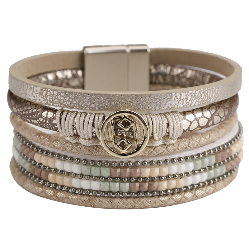 Rope Leather Multilayer Bracelets for Women
