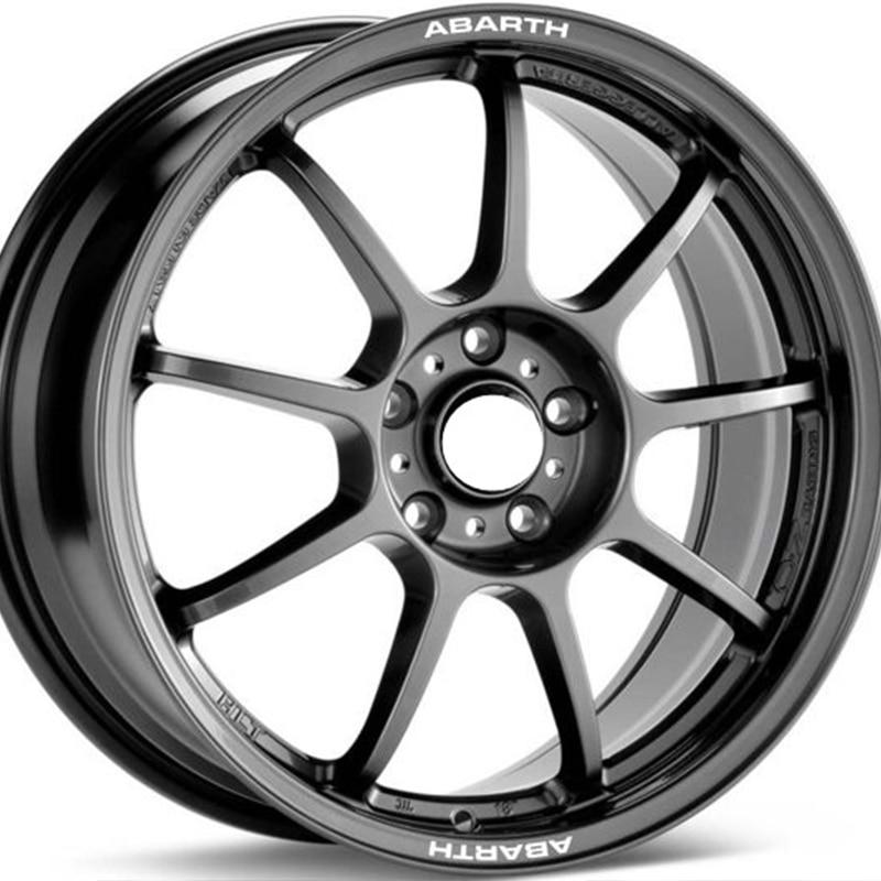 Exterior Accessories Automobiles & Motorcycles 4pcs For Fiat Abarth Rims Alloy Wheel Decals Stickers 500 500c 500l 500e 500x 595 695 Biposto Punto Grande Punto Stilo Terrific Value