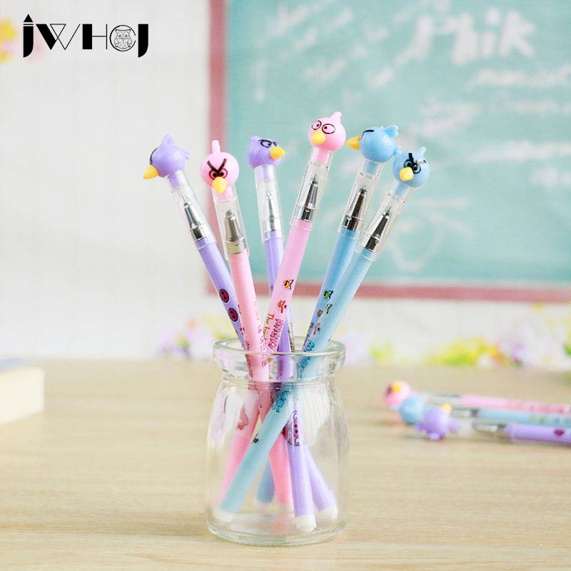 3 pcs/lot Lovely bird gel pen cute pens material escolar kawaii stationery canetas escolar school office supplies Free shipping lapices erasable pen kawaii stationary material escolar boligrafo gel penne cute canetas floral caneta stylo borrable cancellabi