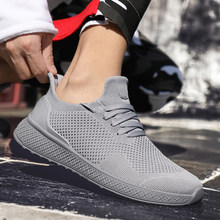 Light Weight Running Shoes For Men 2019 Spring Autumn Black Comfortable Anti Slip Male Shoes Outdoor Walking Sneakers Men(China)