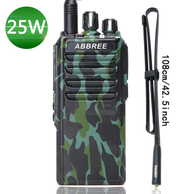 Abbree AR 25W 25W High Power Walkie Talkie UHF 400 480MHz 10Km Range Radio 4000mAh Battery