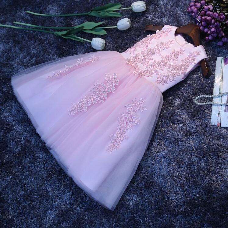 Новые Платья с цветочным узором для девочек, с аппликацией и бантом, праздничное платье для причастия, Детские платья для маленьких девочек