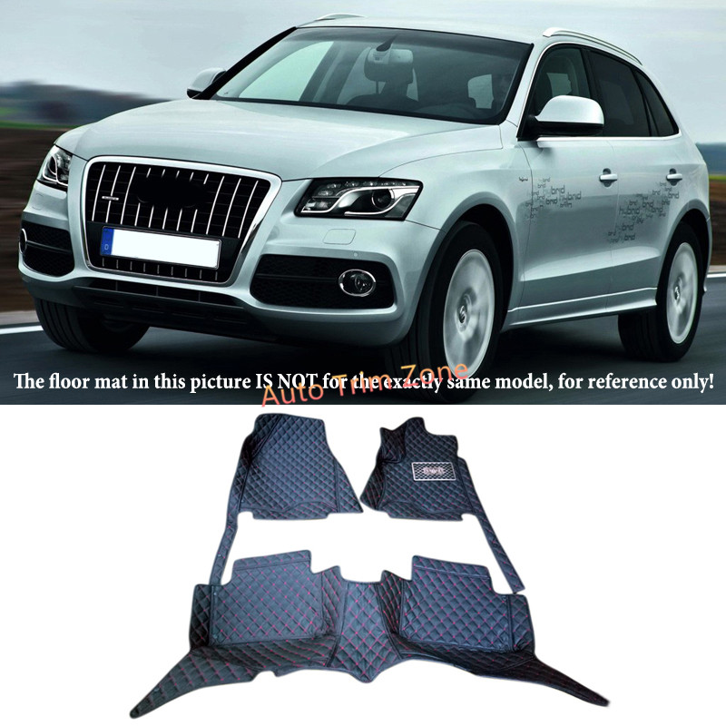 Left&Right Hand Drive Interior Leather Car Foot Mat Carpet Foot Pad For Audi Q5 8R 2009-2016 brand new car dashboard cover for audi tt dash cover mat right hand driver