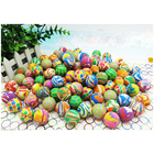 100pcs Rubber Bouncing Balls Game,Bouncing Jumping Colorful Ball for Children Toy Printing Bouncy Pinball outdoor Toy