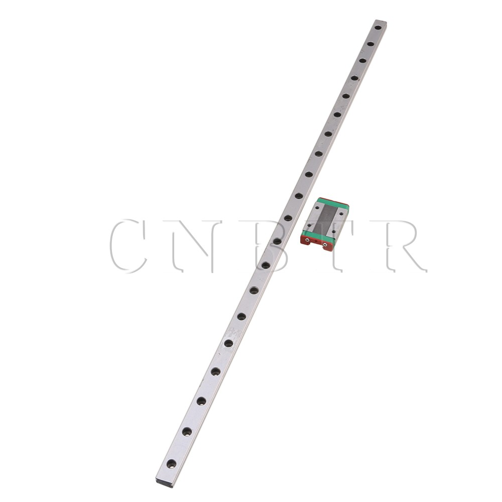 CNBTR 500mm MGN12 Steel Extended Guide Linear Bearing Slide Rails & MGN12H Sliding Block for Precision Measurement Equipment food security measurement guide