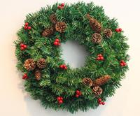 Christmas wreath pine cones decorated Christmas wreaths Rattan door hanging Christmas decorations