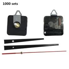 DHL 1000sets/lot wholesale Silent Quartz Wall Clock Movement Mechanism DIY Repair Part Set 28mm Spindle Long Hands