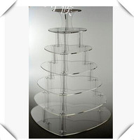 wedding decoration7 Tier Heart Shape Beautiful Acrylic Cupcake Stands Party / Wedding / Festival Supplies Cake Display Shelf