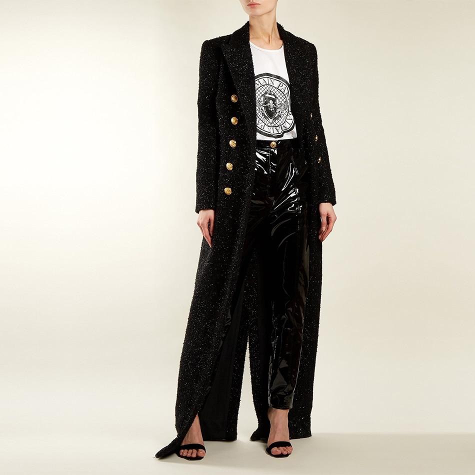 Adyce 2019 New Spring Women Slim   Trenches   Coats Sexy Black Deep V-Neck Double Button Bodycon Coats Long Sleeve Maxi Club Coats