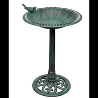 Vidaxl Waterproof Plastic Basin Outdoor Furniture Green Basin Bird Decoration V3