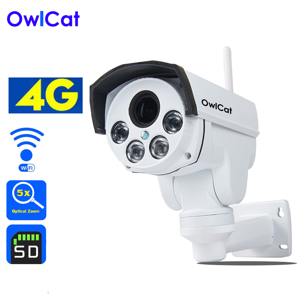 Owlcat 4G IP camera Sim Card WiFi CCTV camera PTZ HD 1080P 960P 5X Optical Zoom Auto Focus Security Video Surveillance Camera диля 978 5 88503 960 4