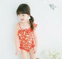 Doce Bonito Do Bebê Crianças Swimsuit Meninas Qualidade Adolescentes Swimwear One-pieces Popular Projeto Infantil Terno De Banho Crianças Beachwear