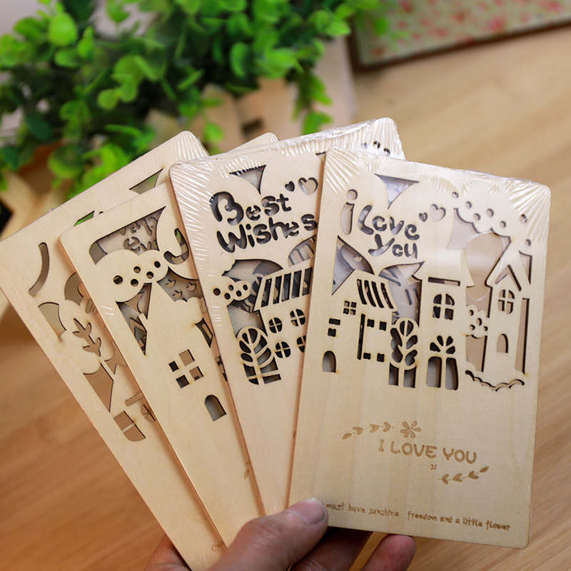 online buy wholesale wooden greeting cards from china wooden, Greeting card