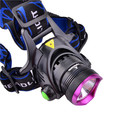 Headlight CREE XM-L T6 2000lm 3-Mode LED Headlamp W/Charger + Free 2x18650 Battery free shipping