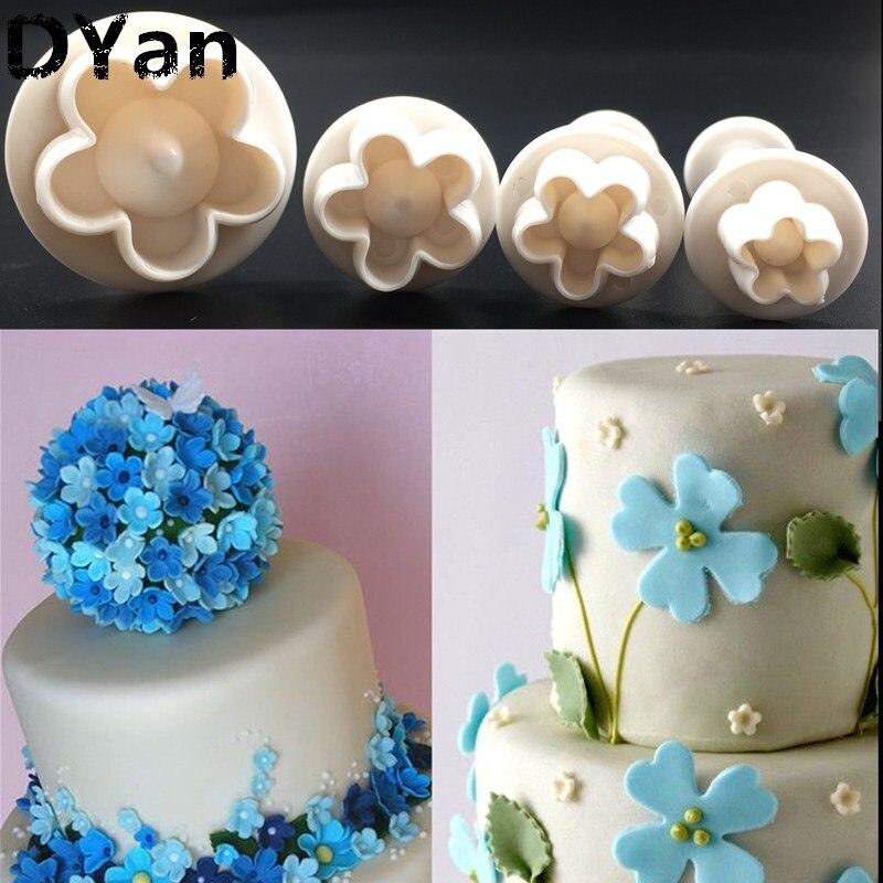 Primavera flor de ameixa utensílios de plástico pão cozido açúcar Die ferramentas de modelagem, Utensílios de cozinha