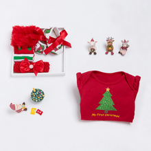 New Baby Christmas Girl Tutu Romper Newborn Clothing Set Ruffle Clothes Baby Girls Party Dress+Headband+Leggings+Shoes 4pcs/Sets newborn baby girls christmas costume tutu dress my first christmas baby clothes set headband xmas socks new born baby clothing