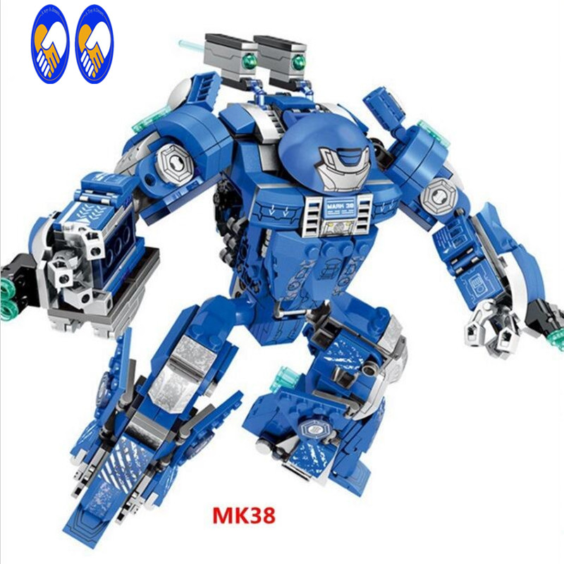 (A Toy A Dream) Super Heroes Marvel MK38 MK46 MK1 Captain America Armor Iron Man Mark38 Hulkbuster Building Blocks Brick Toy marvel super heroes avengers wonda iron man mk anti hulkbuster thor vision ultron assemble building blocks minifig kids toys