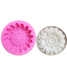 M0835 Chrysanthemums mold Flowers silicone moulds 3D jelly cake molds Sunflower cake decoration tools wholesale