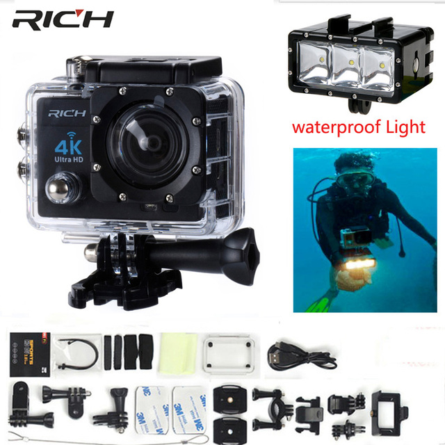 Action Camera 4k Wifi Ultra Hd 1080p Waterproof 30m Mini Cam Bike