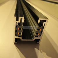3 Phase 1m LED Track Rail White And Black Aluminum 4 Wire 3 Phase Rail Track