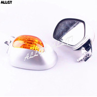 Rear View Mirrors Integrated LED Turn Signal For Honda Goldwing GL1800 2001 2011
