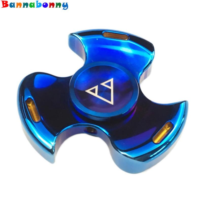 The newest Seiko Metal Fidget Spinner With Hole Brass Finger Spinner Fingertips Hand Spinner Torque Gyro