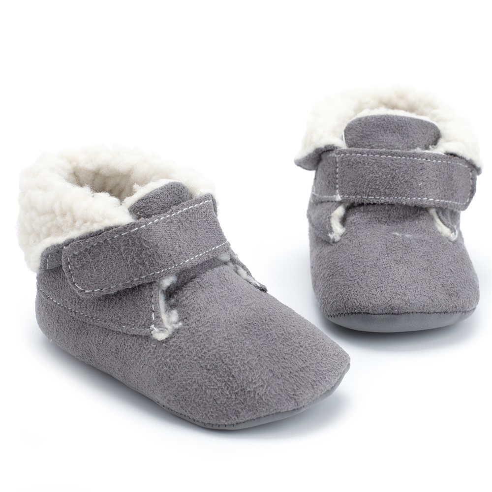 New Baby Boys Boots Imitation Leather Suede Flanging Erect Peanut Suede Inner Winter Warm Casual Boots Baby Shoes For Boys Girls
