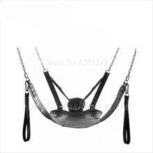 Najwyższa jakość dwie warstwy temblak skórzany Sex hamak huśtawka erotyczna krzesło skórzane łóżko hamak i poduszka zabawy dla dorosłych Sex zabawki dla pary
