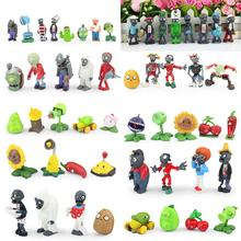 52pcs/set Plants VS Zombies PVZ Collection Figures Toy all the Plants and zombies figure Toys Free Shipping