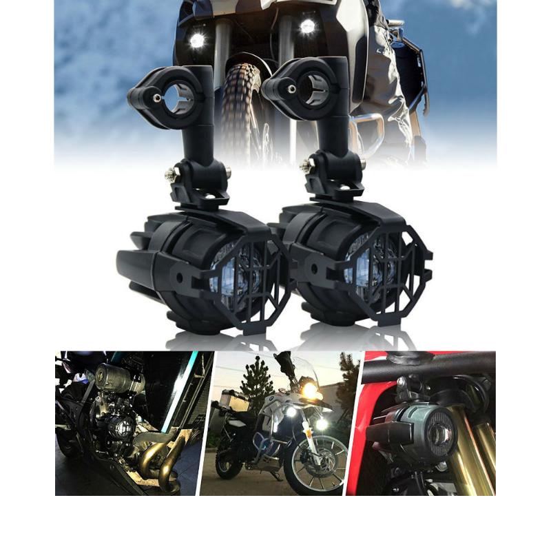 2 pçs 40 w led motocicleta auxiliar luz 6000 k com proteger guarda pára-choques led condução nevoeiro passando lâmpada para bmw r1200gs f800gs
