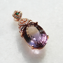 100% natural huge Ametrine necklace pendant for evening party 13mm*18mm 13ct Ametrine gemstone solid 925 silver gems pendant