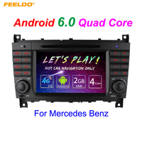 FEELDO 7 Android 6.0 (64bit) DDR3 2G/16G/4G LTE Quad Core Car DVD GPS Radio Head Unit For Mercedes Benz CLK W209(2004~2005)