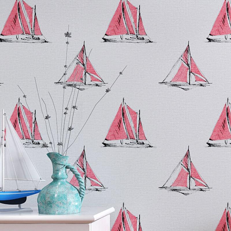 Beibehang papel parede enfants chambre décor papier peint rouleau voilier Design papier peint Papel Pintado Mural papier peint plancher papier