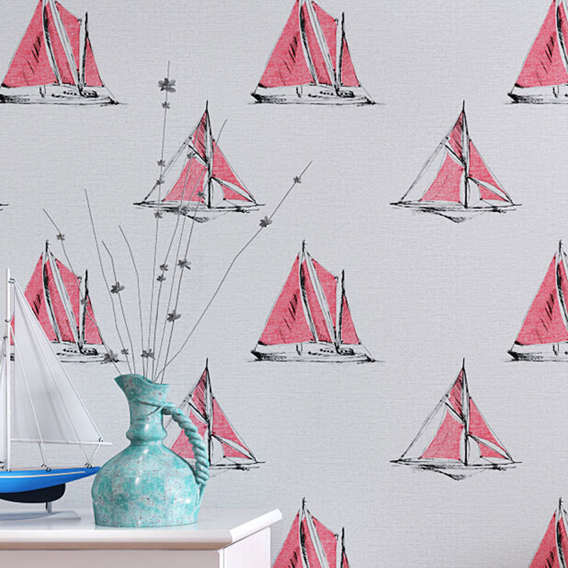 beibehang papel parede Kids Bedroom Decor Wallpaper roll Sailboat Design Wall paper Papel Pintado Mural wallpaper contact paper beibehang twinkle little star child wallpaper house bedroom home decor background wall paper kids nursery room papel de parede