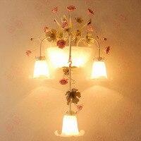 Стекло Настенные светильники 110 220 В Loft Home Освещение светодиодный настенный светильник E14 сад Освещение прикроватные тумбочки, настенные чт