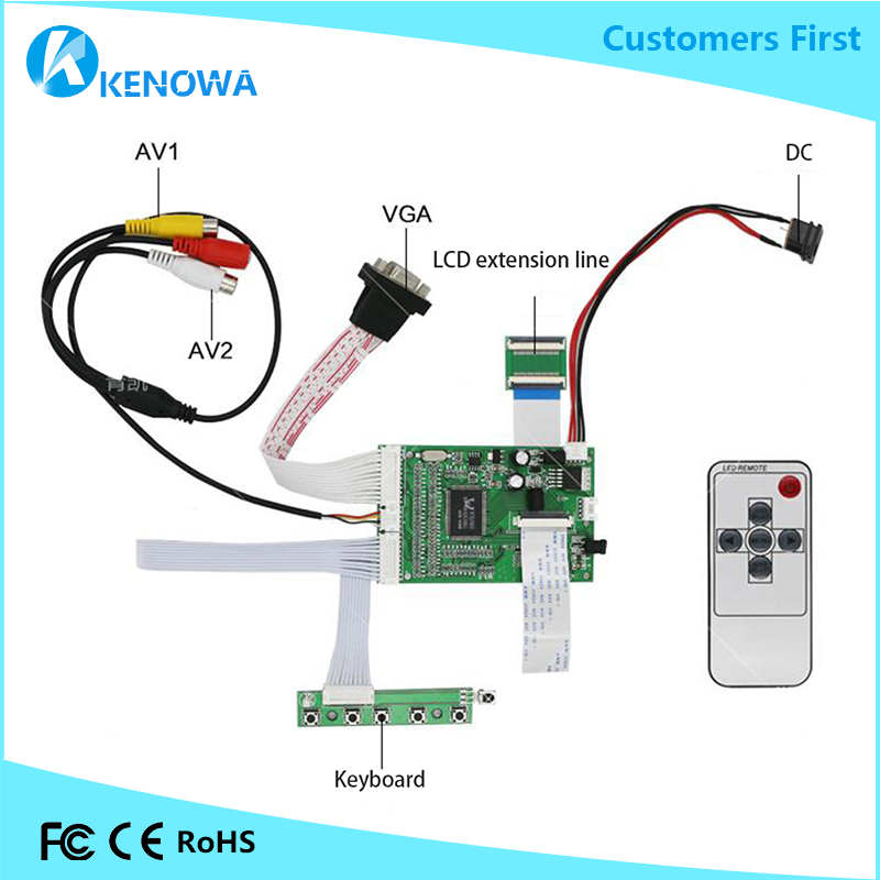 vga Mainboard Activating Blood Circulation And Strengthening Sinews And Bones Hearty Lcd Driver Board For Innolux 7.0 Inch At070tn90 At070tn92 At070tn93 At070tn94 Display With Control 2av Mobile Phone Lcds